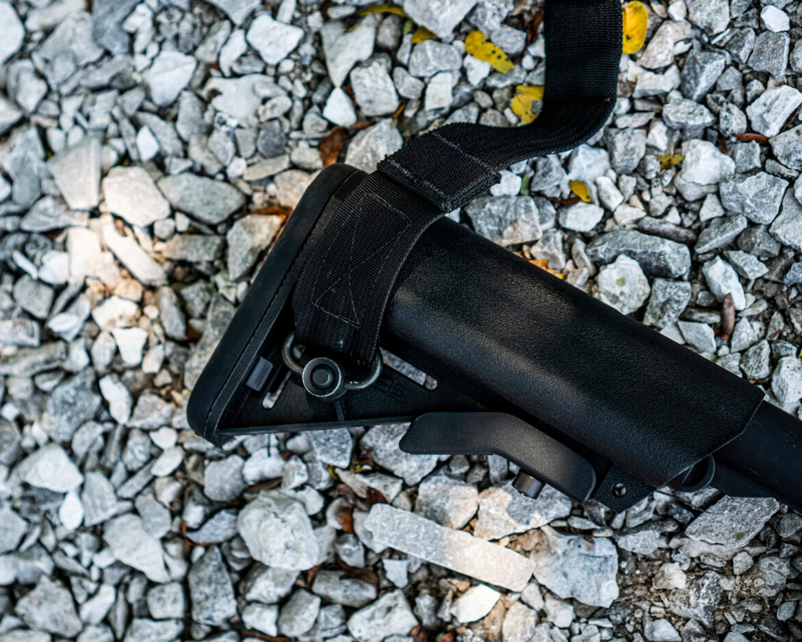 Sling attachment to AR-15 rifle