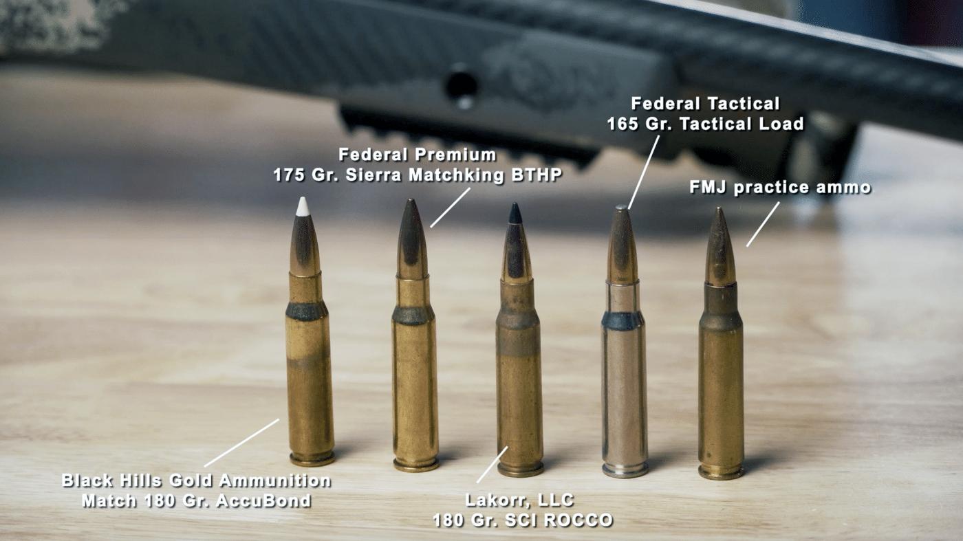 Comparison of .308 WIN loads