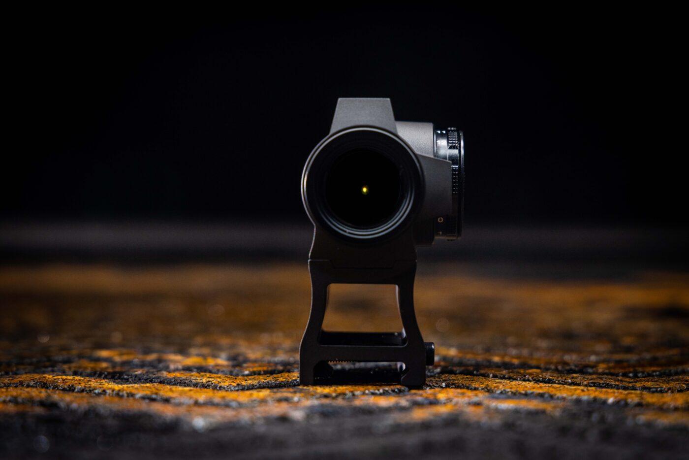 Holosun reflex sight with yellow dot