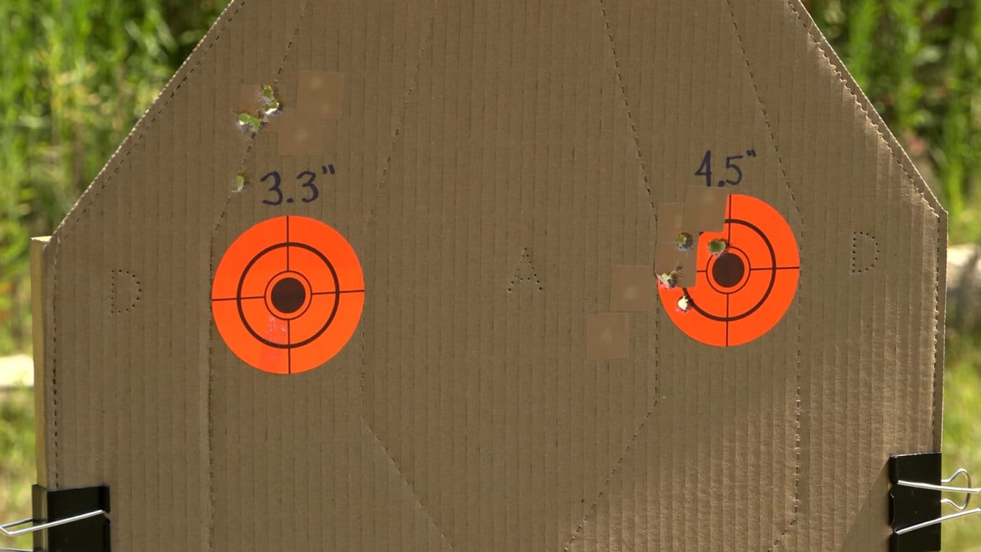 Range testing group sizes with two XD-E models