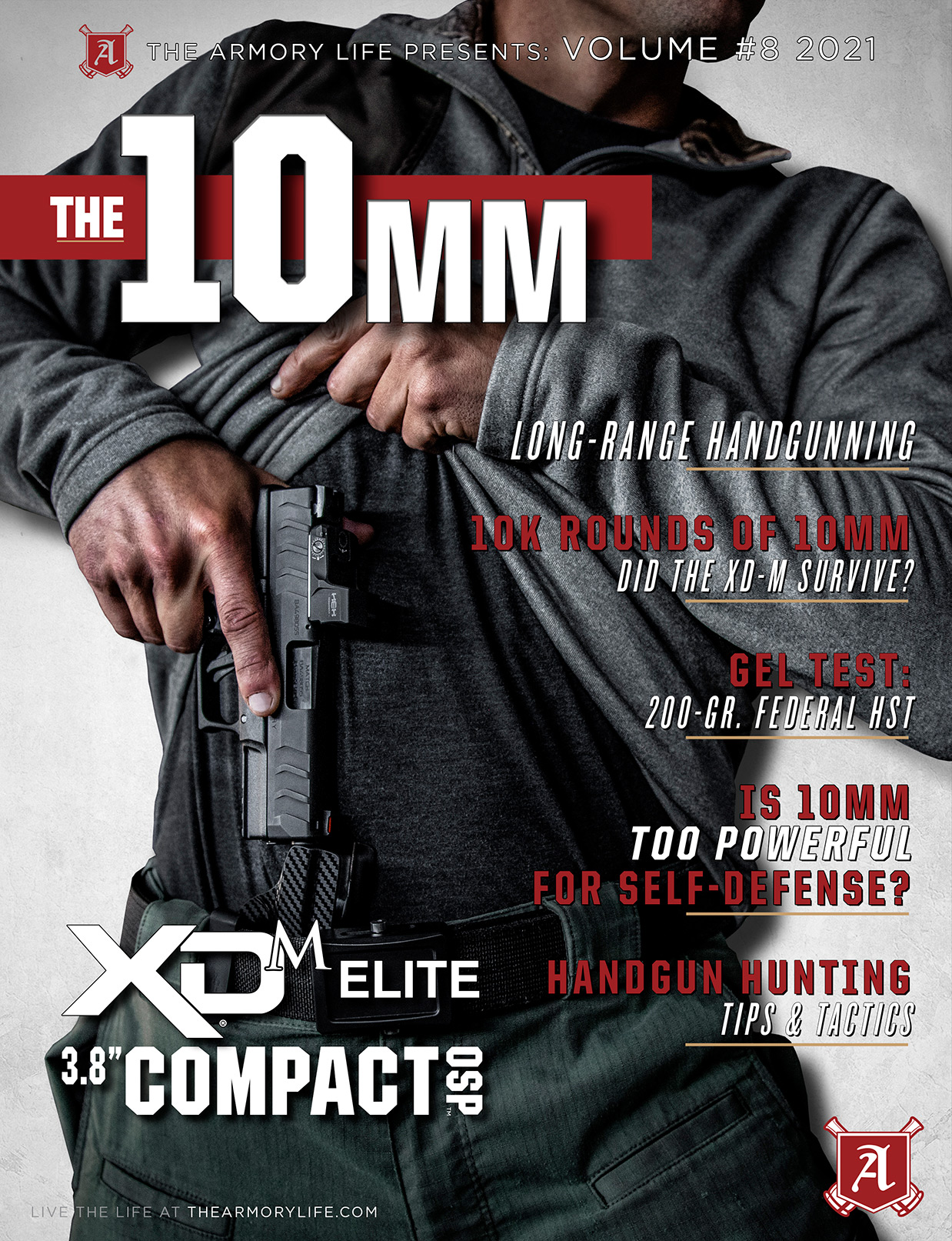 Cover for The Armory Life Digital Magazine Volume 8: The 10mm
