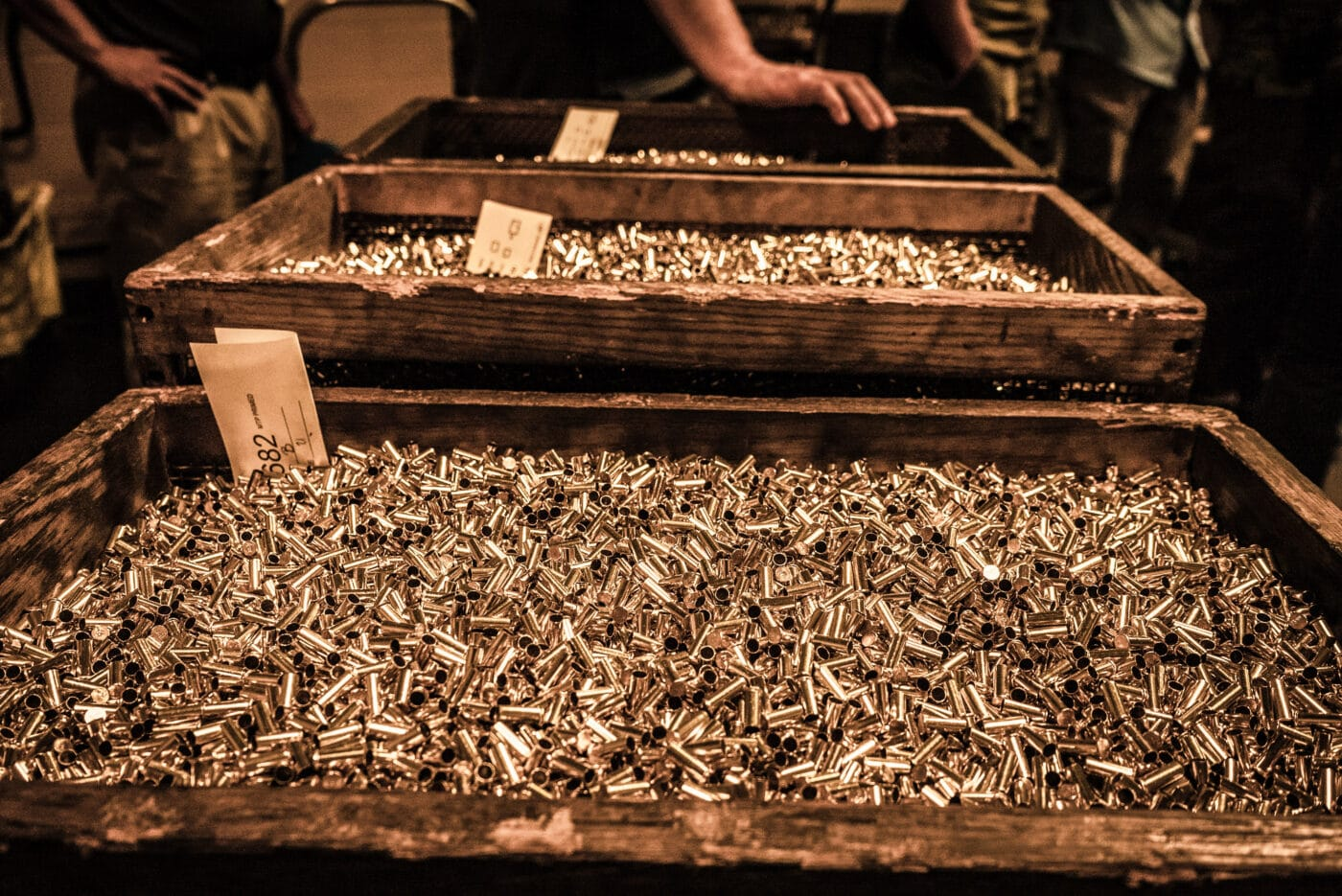 Remington rifle brass at the factory