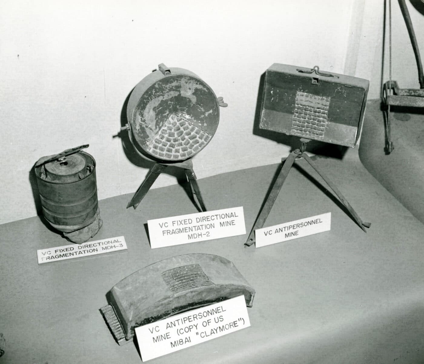 Types of mines used by the Viet Cong in Vietnam