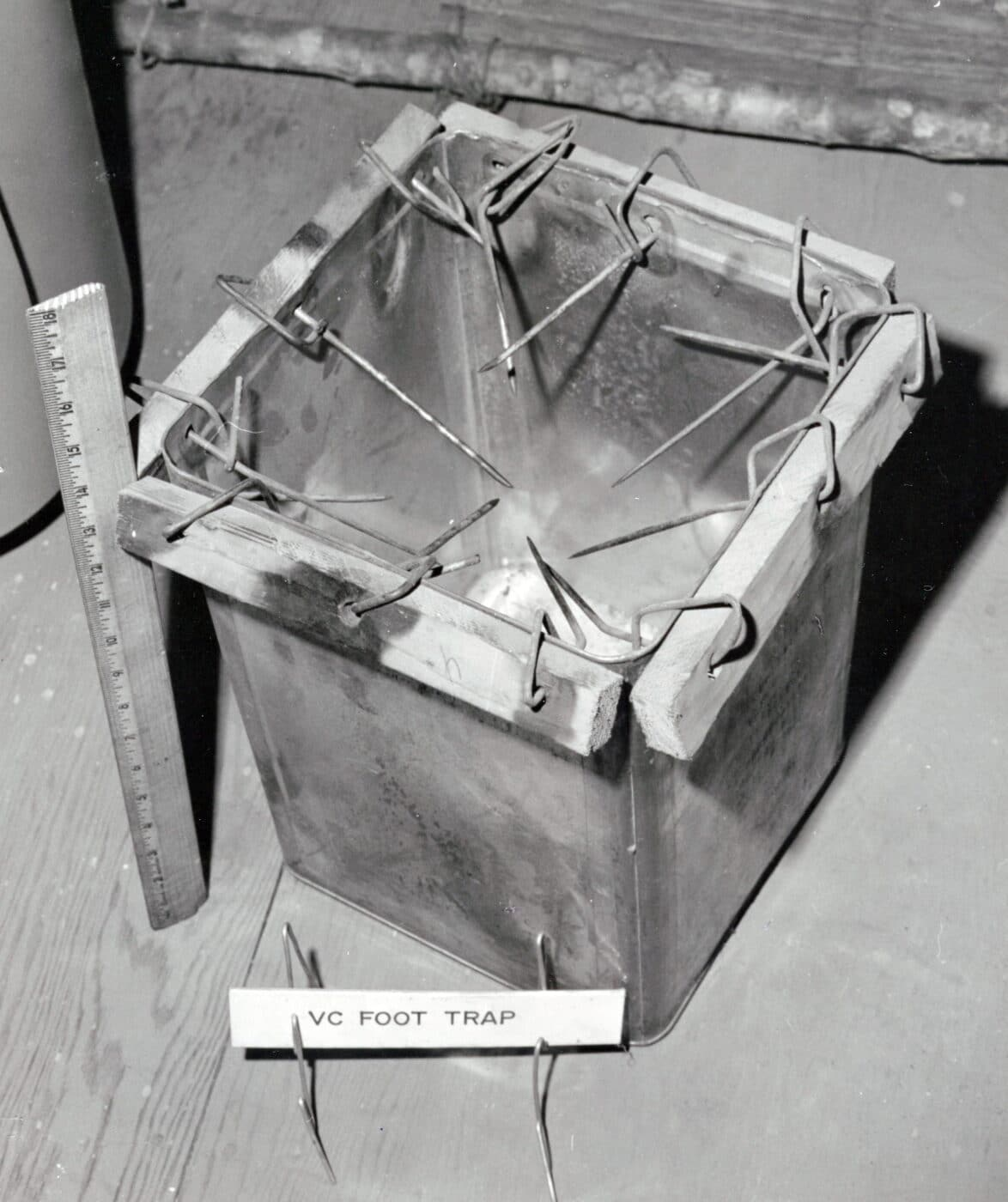 Prefabricated Viet Cong foot trap