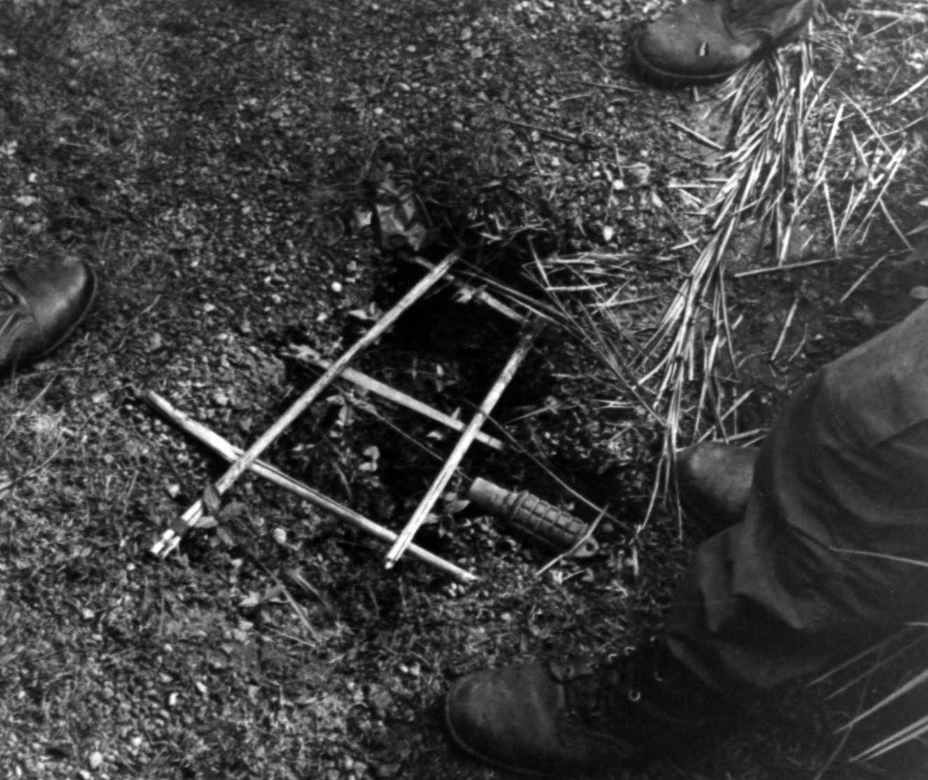 USMC training on Viet Cong traps