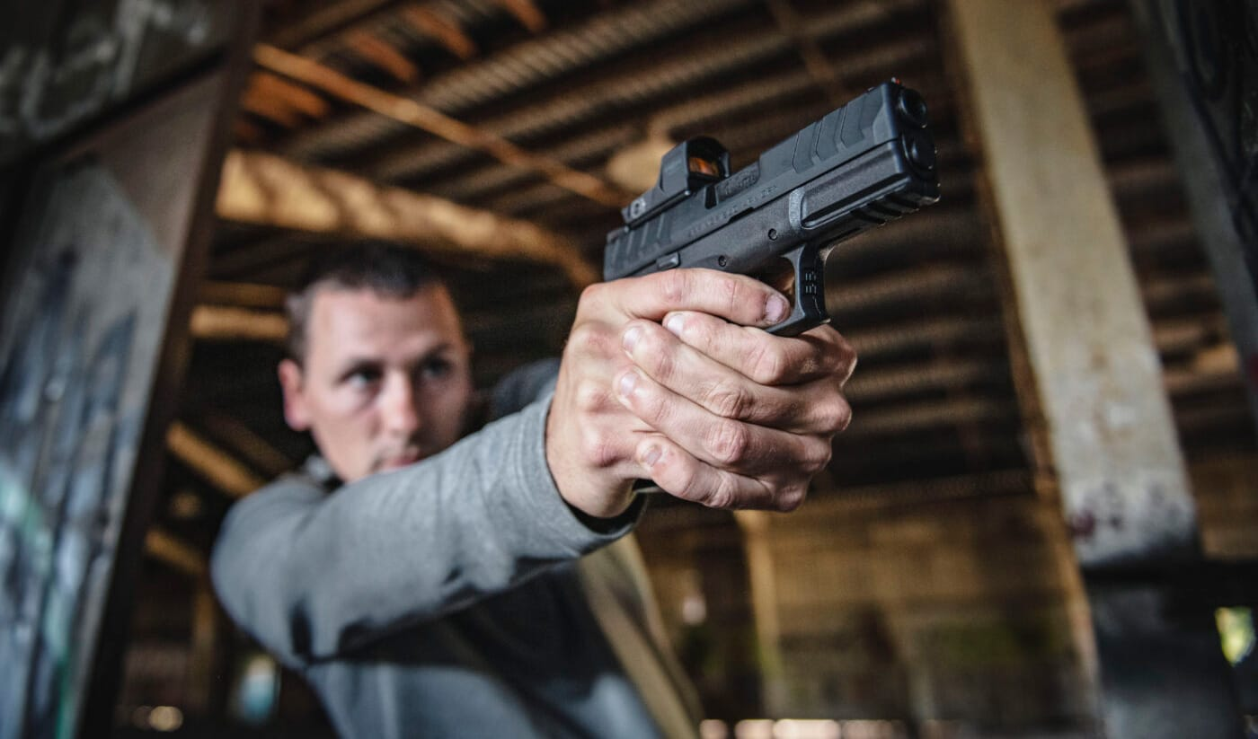 Man training trigger control for improved accuracy