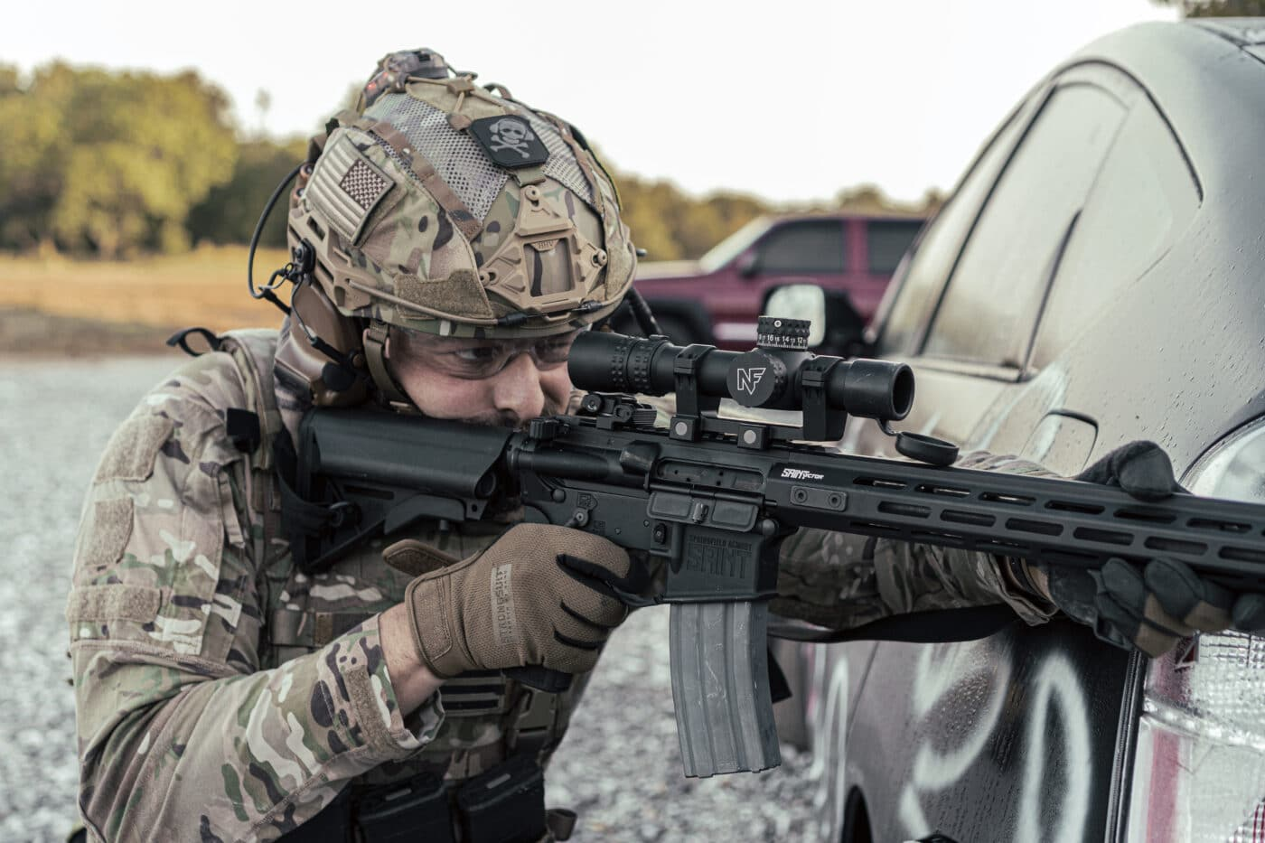 Solder using rifle with Nightforce NX8 1-8x first focal plane scope