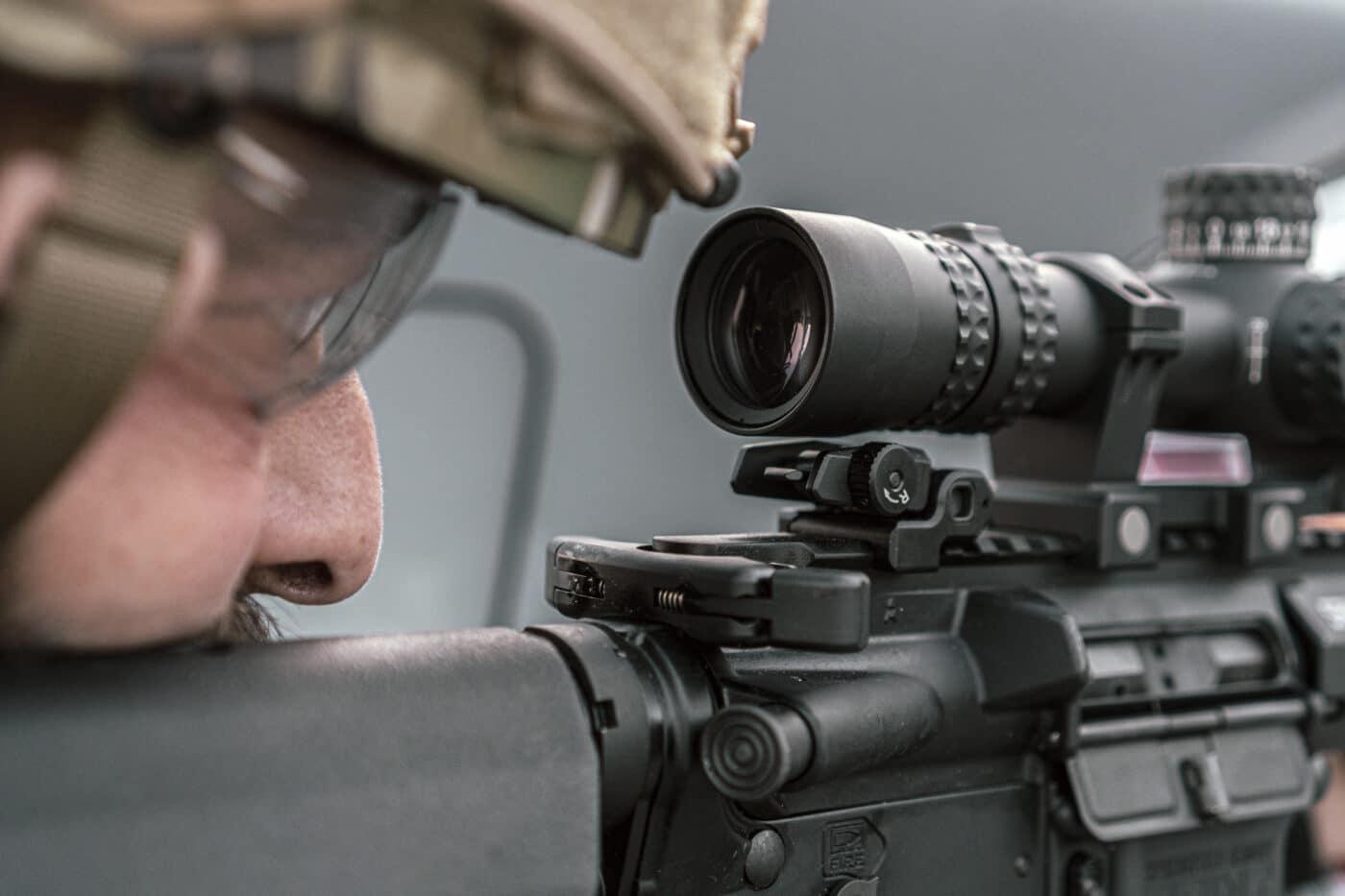 Eye relief of the Nightforce NX8 1-8x scope
