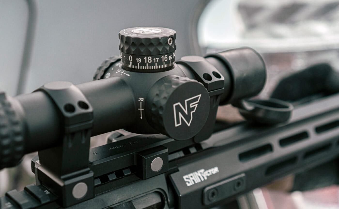 Adjustment knobs on the Nightforce NX8