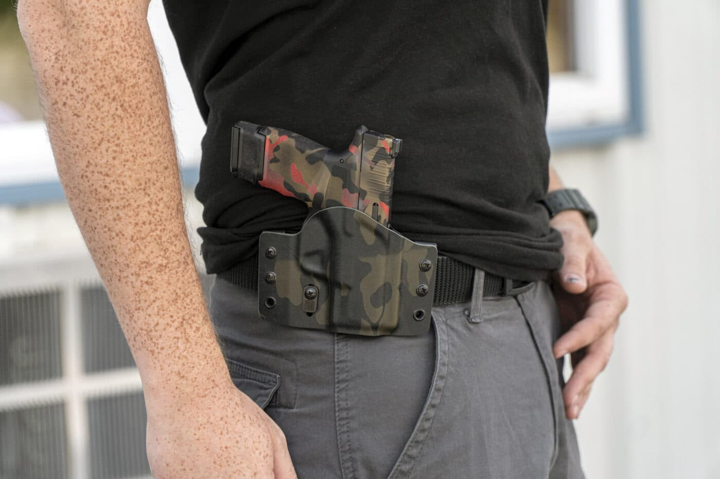 New Contour holster from Tulster being worn on man's belt