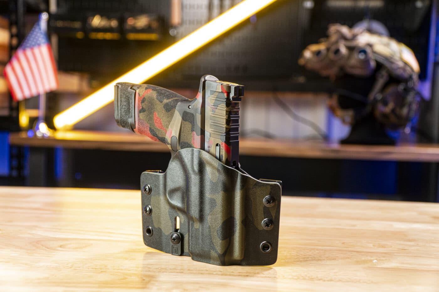 Hellcat pistol in holster