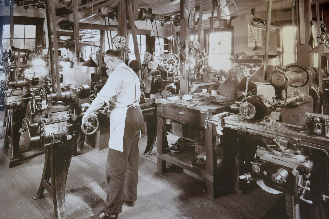 Early days at the Leupold factory