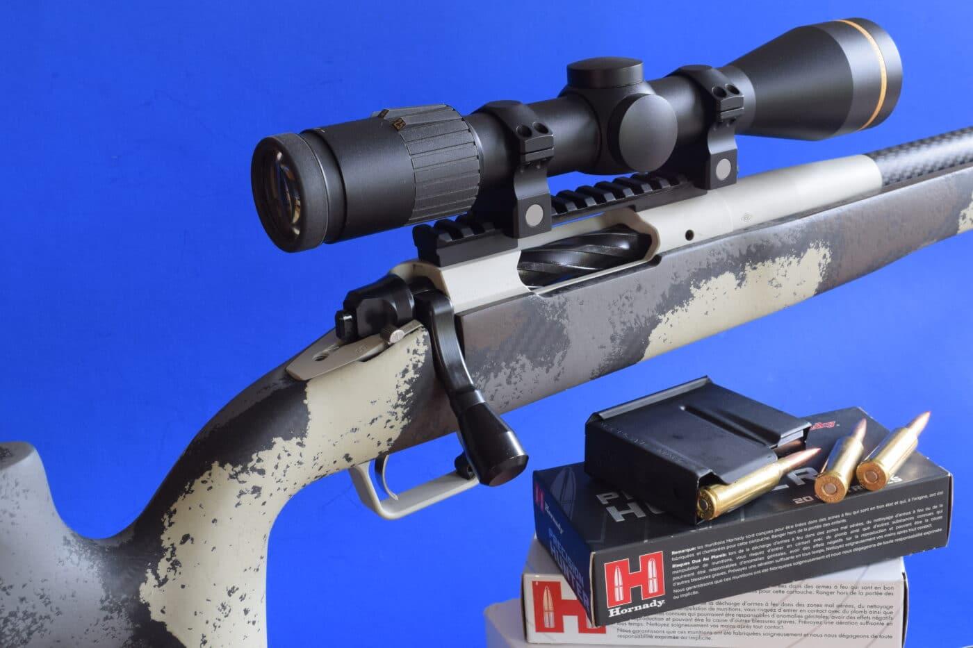 Leupold scope mounted on Springfield Armory Waypoint rifle